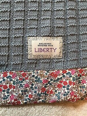 Mamas And Papas Liberty Print Pram Blanket Knitted Floral NEW Emilia