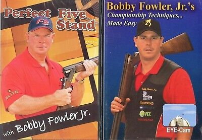 TWO Sporting Clays / Skeet Shooting DVDs with Bobby Fowler Jr / Int'l Welcome!