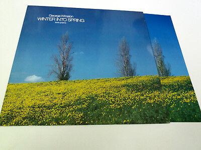 "George Winston ""winter Into The Spring"" Lp Vinyl 12"" Mbe/mbe Vg/vg Icluye Lamina"