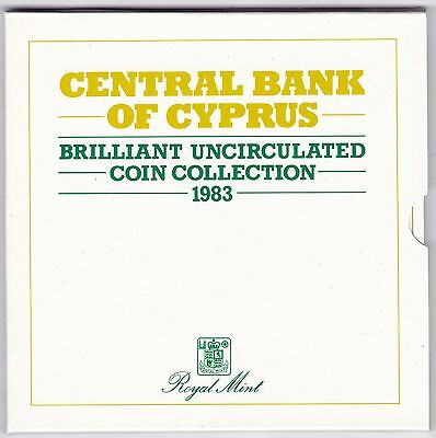 1983 Bank Of Cyprus Brilliant Uncirculated Coin Set***Collectors***