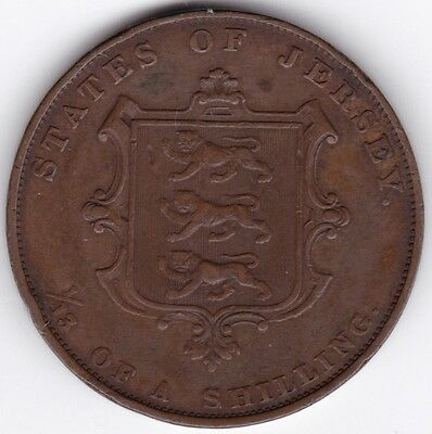 1858 Jersey 1/13 Of A Shilling***Collectors***