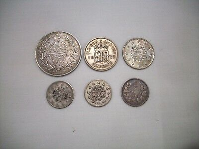 6 World Silver Coins