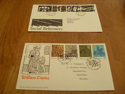 England  F-D Covers- Social Reformers 1976 / William Caxton 1976