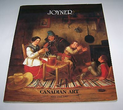 Vintage JOYNER Auctioneers&Appraisers Canadian Art Catalog Friday May 23rd, 1997