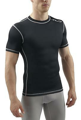Sub Sports Mens Short Sleeve Compression Top T-Shirt Base Layer Crew Neck Vest