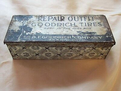 Vintage Goodrich Tire Patch Repair Advertising Tin Gas station Auto 1920's Rare