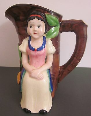 vintage 1930s MARUHON Japan SNOW WHITE decorated JUG handpainted af Disney