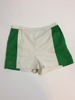 Vintage Haymaker Lacoste Shorts Green And White 2 Front Pockets Elastic Waist
