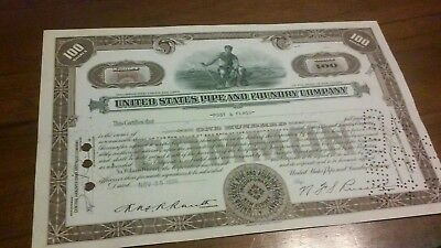 United States Pipe and Foundry Company Stock Certificate 1936