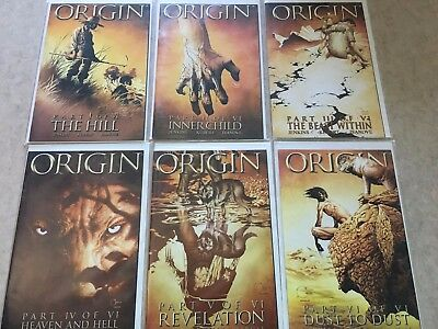 Origin #1 2 3 4 5 6 Marvel Wolverine Comic Book Set 1-6 Mini Series Complete WOW