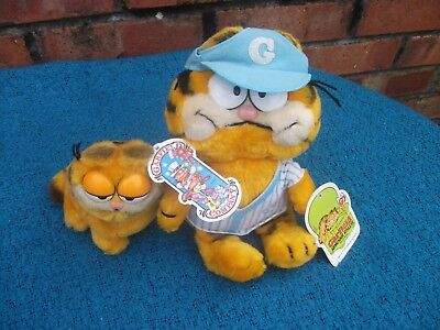 Garfield armchair athlete&Garfield and Co. 2 Soft toys Dakin 1981 With Tags