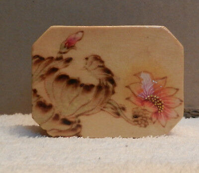 Vintage Asian Chinese Wooden Trinket / Jewellery Box Hand Painted