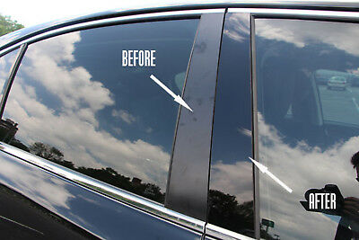 Fits Mercedes Benz C 08-10 Piano Black Pillars Posts Door Window Trim
