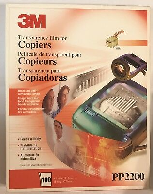 3M Transparency Film for Copiers - PP2200 - Open Box 56 Sheets