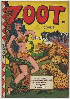 Fox Feature Syndicate ZOOT #13, (1st of 2 #13) Rulah Jungle Goddess, VG, 1948