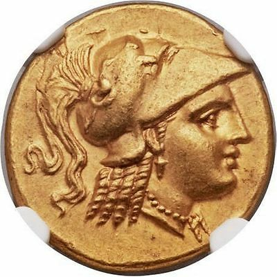 ALEXANDER the GREAT 323BC Ancient GOLD NGC Certified Ch AU* FINE STYLE 5/5,5/5