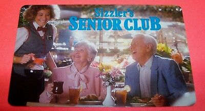 Old Collectible 1989 Sizzler's Senior Discount Card for Sizzler Restaurant