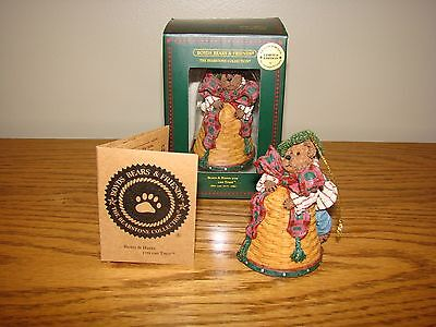 Exclusive Boyds Bears Longaberger BELL BASKET Bearstone Resin LE ORNAMENT New