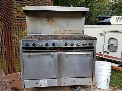 Castle 8 Burner Commercial Range With Ovens Used