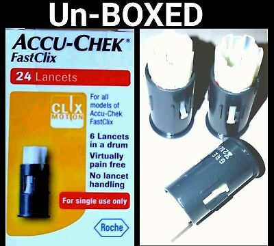 Accu-chek Fastclix 24 Lancets (4 Drums) Brand new and UN-BOXED EXPIRY 04/2019**