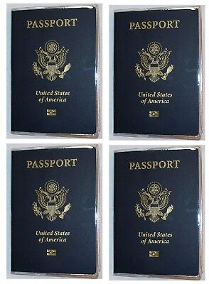 USA Quality Fast Ship 4x Passport Heavy Duty Clear Vinyl Cover Protector Holder