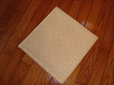 Longaberger Woven Traditions CLASSIC NATURAL IVORY Fabric Table SQUARE 45 x 45