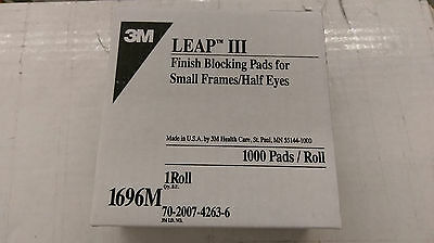 3Boxes 3M 1696 III Finish Blocking Leap Pads Lens Pads Roll of 1000 ( Half Eye )