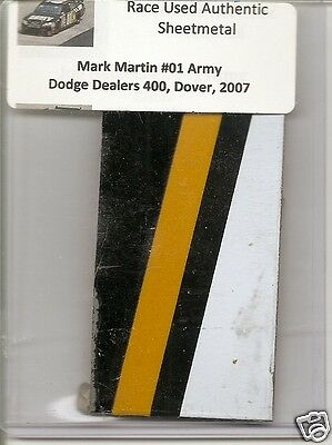 Mark Martin authentic race used sheet-metal #1 Army  - Dover 2007