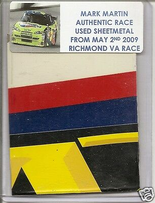 Mark Martin authentic #5 Kelloggs race used sheet-metal May 2nd 2009 at Richmond