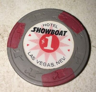 Hotel Showboat $1 Casino Chip Las Vegas Nevada 2.99 Shipping