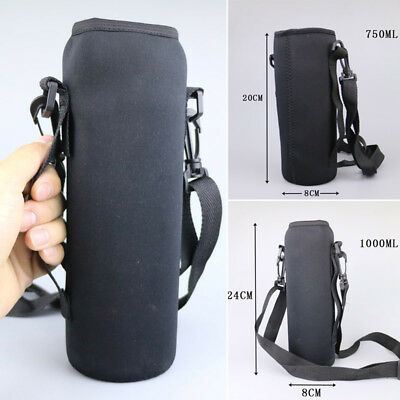Outdoor 750ML/1000ml Water Bottle Carrier Insulated Cover Bag Pouch Holder Strap
