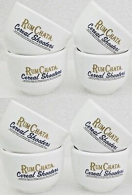 RumChata Cereal Bowl Shooters, 2 oz Shot Glasses Rum Chata cup (Set of 4) NEW