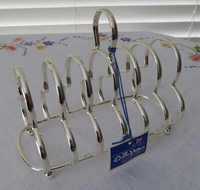 Queen Victoria Silverplated 6 Slice Toast Rack - Letter Holder