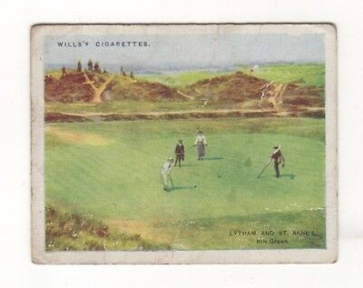 Wills Golf Cigarette Card: Lythan and S. Annes Golf Club