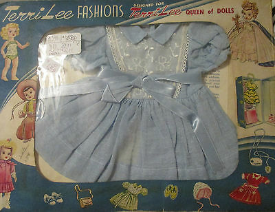 Doll Terri Lee Clothing  Blue Party Dress  in Envelope Packaging 1950s