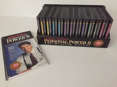 Anthony Robins Personal Power Ii The Driving Force 25 Cd Set With Joural