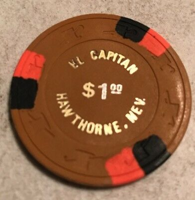 El Capitan $1 Casino Chip Hawthorne Nevada 2.99 Shipping