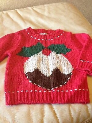 Baby Girl Christmas Jumper Next 6-9 Months