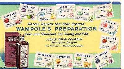 Ink Blotter Wampole's Preparation Tonic and Stimulant for Young and Old Oklahoma