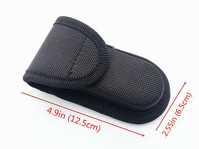 Black Nylon Sheath For Folding Pocket Knife Outdoor Practical Pouch Case New