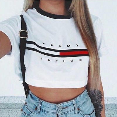Fashion Women Summer Casual Tank Tops Vest Blouse Short Sleeve Crop Tops Shirt