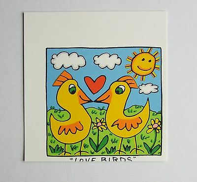 James Rizzi Love Birds - Farblithografie