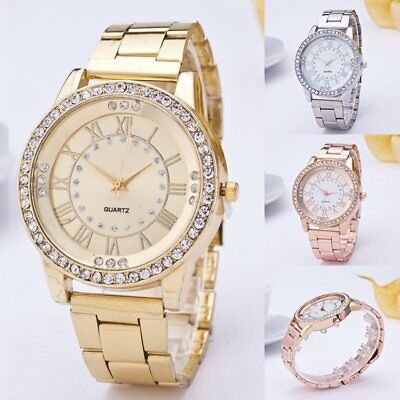 Women's Bracelet Crystal Diamonds Stainless Steel Dial Analog Quartz Wrist Watch