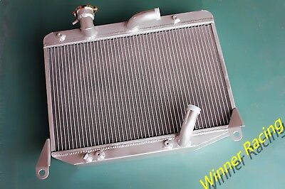 Aluminum Alloy Radiator Fit Alfa Romeo Spider 1300 1600 Roundtail 2 Rows-56mm