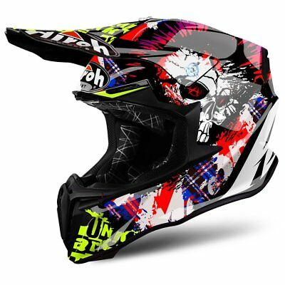 Helm Sturzhelm Airoh Twist Crazy Black Gr.XL 2017 Motocross Enduro