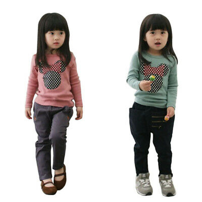 NEW Kids Baby Boys Girl Tees Cotton Long Sleeve T-shirt Tops Blouse Clothes 2-7Y