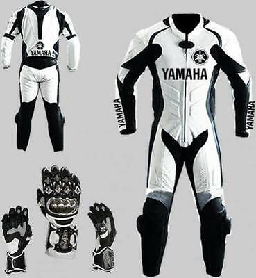 One Piece leathersYAMAHA MOTORBIKE RACING racing suits free gloves new
