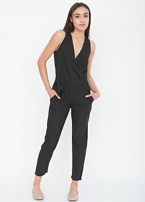 Take Me Out Crossover Jumpsuit Black