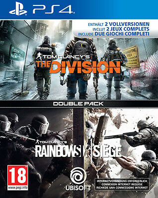 Rainbow Six Siege + The Division Compilation PS4 Playstation 4 IT IMPORT UBISOFT