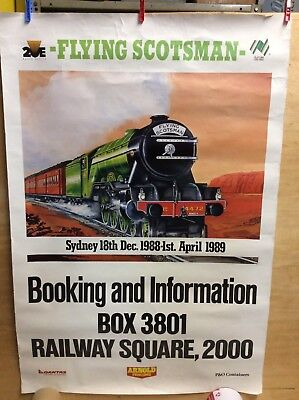 FLYING SCOTSMAN Original Advert Poster Sydney 18th Dec / 1st April 1989